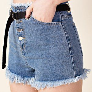 TOPSHOP x HONEY PUNCH Denim Shorts